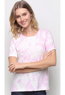 Camiseta Volare Tye Dye Feminina - Feminino-Rosa