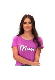 Camiseta Miss Glamour Store Muse Roxo