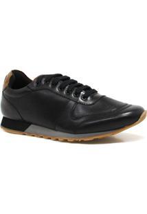 Sapatênis Zariff Shoes Couro - Masculino-Preto