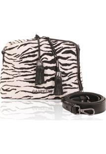 Bolsa Pequena Campezzo Couro Pelo Zebra