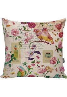 Capa Para Almofada Birds- Rosa Claro & Rosa- 45X45Cmstm Home