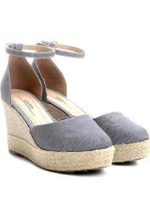 03b7410d34 Sandália Jeans Salto Anabela feminina
