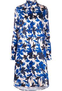 Boutique Moschino Chemise Com Estampa Floral - Azul