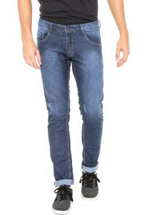 Calça Jeans Juice It Slim Desgastes Azul