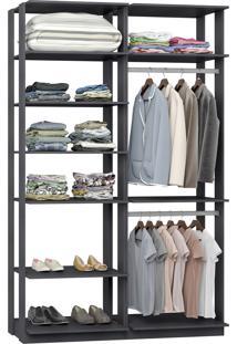 Closet Modulado Be Mobiliário Clothes Com 2 Cabideiros