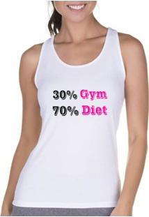 Regata Criativa Urbana Cavada Fitness Diet - Feminino