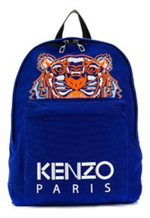 Kenzo Tiger Embroidery Backpack - Azul