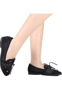 Sapato Loafer Zariff Vazada Laço