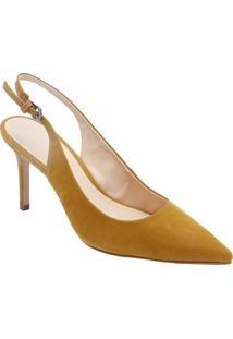 Sapato Chanel Liso - Amarelo Escuro - Salto: 9,5Cm