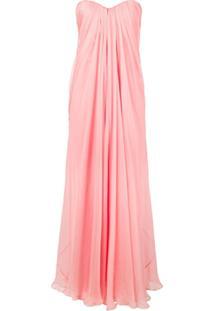 Alexander Mcqueen Chiffon Bustier Gown - Rosa