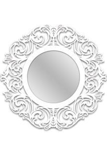 Espelho De Parede 12874B Branco 70X70 Art Shop