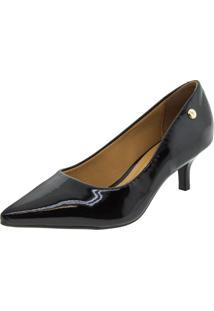 Sapato Feminino Scarpin Salto Baixo Preto Vizzano - 1122628