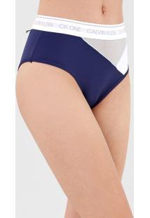 Calcinha Calvin Klein Underwear Hot Pant One Color Block Azul