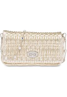 Miu Miu Miu Crystal Shoulder Bag - Dourado