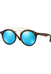 Óculos De Sol Ray-Ban Rb4256 Gatsby Redondo - Unissex-Marrom