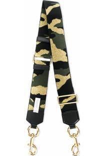 Marc Jacobs Alça Para Bolça Com Estampa Camuflada - Preto
