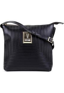 Bolsa Vizzano Mini Bag Transversal Feminina - Feminino-Preto