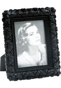 Porta Retrato Decorativo Resina Tom Escuro