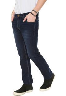 Calça Jeans Opera Rock Slim Pespontos Azul