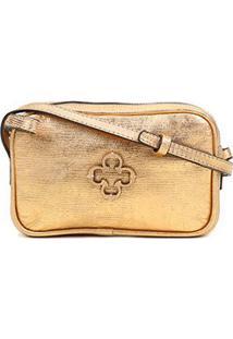 Bolsa Couro Capodarte Mini Bag Snake - Feminino-Dourado