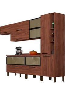 Cozinha Modulada 8 Peças Viv Concept C07 Nogueira - Kit´S Paraná