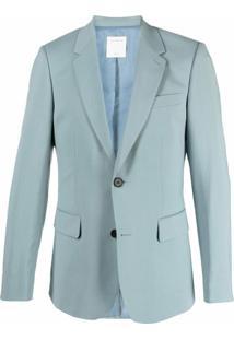 Sandro Paris Blazer De Alfaiataria Com Abotoamento Simples - Azul