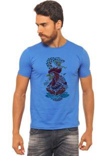 Camiseta Joss - Galo E Cobra - Masculina - Masculino-Azul