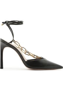 Scarpin Lace-Up Chain Black | Schutz