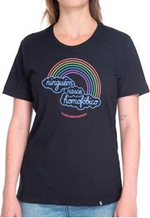 Ninguém Nasce Homofóbico - Camiseta Basicona Unissex