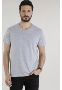 Camiseta Básica Cinza Mescla Claro