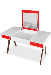 Escrivaninha Delacroix Branco/Vermelho