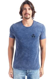 Camiseta Bossa Nautical Azul Marmorizado