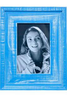 Porta Retratos De Mesa Para Foto 10X15 Cm Azul Mar