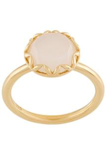 Astley Clarke Anel Paloma Bicolor Banhado A Ouro Com Pedra De Luta - Dourado
