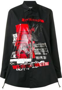 Dsquared2 Camiseta Com Estampa - Preto