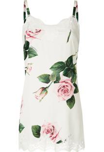 Dolce & Gabbana Camisola De Seda Estampada - Branco
