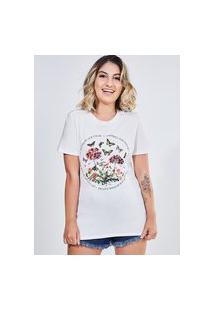 Camiseta Estampa Floral Nature