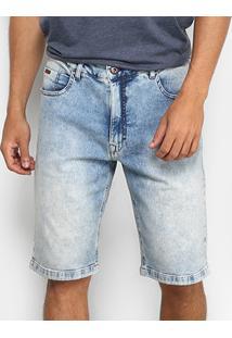 Bermuda Jeans Globe Slim Denim Masculina - Masculino