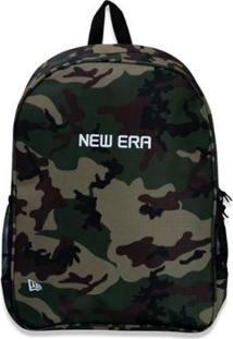 Mochila New Era Basica Branded - Unissex-Verde Militar