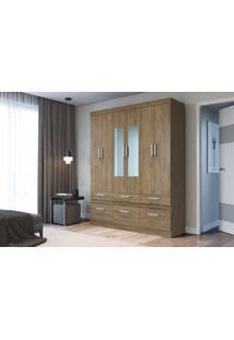 Guarda Roupas Citrino 6 Portas 6 Gavetas Citrino C/ Espelho Wood Decibal Moveis - Tricae