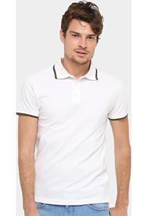 Camisa Polo Triton Piquet Frisos Color Masculina - Masculino-Off White