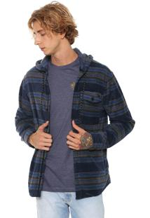 Camisa Billabong Reta Furnace Azul-Marinho