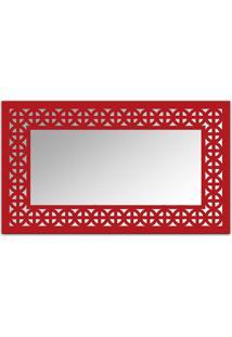 Espelho De Parede 12880V Vermelho 70X110 Art Shop