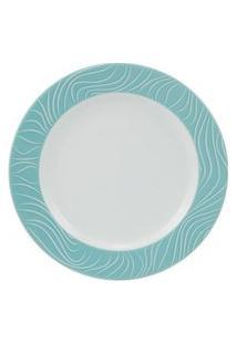 Prato Sobremesa 19 Cm Porcelana Schmidt - Dec. Blue Oak