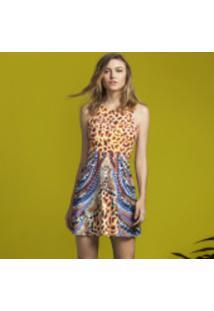 Vestido Evasê Estampado Girafa - Lez A Lez