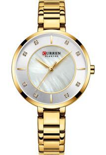 Relógio Curren Analógico C9051L Dourado - Tricae