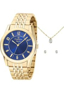 Relógio Champion Feminino Cn26233K - Feminino-Dourado