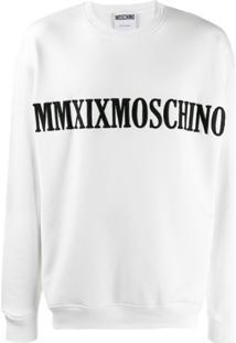 Moschino Blusa De Moletom Com Bordado - Branco