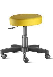 Cadeira Mocho Nina Sem Encosto Amarelo