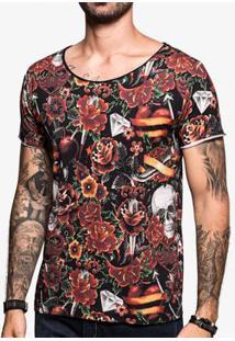 Camiseta Hermoso Compadre Tattoo Watercolor Ul - Masculino-Preto